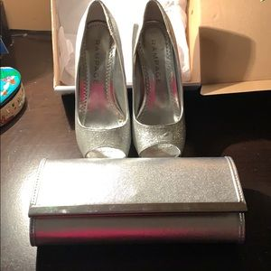 Matching shoes with clutch purse
